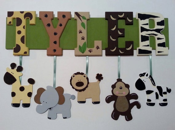 5 Letter Name Custom Jungle Zoo Safari Themed By