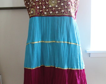 Beautiful dress from India....lots of beads and jewels.....