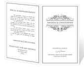 Wedding Program Template Printable - INSTANT DOWNLOAD