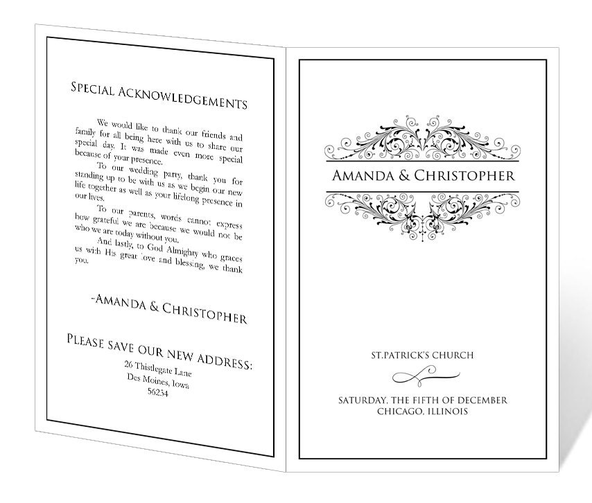 Publisher Templates For Programs Wedding Program Templates