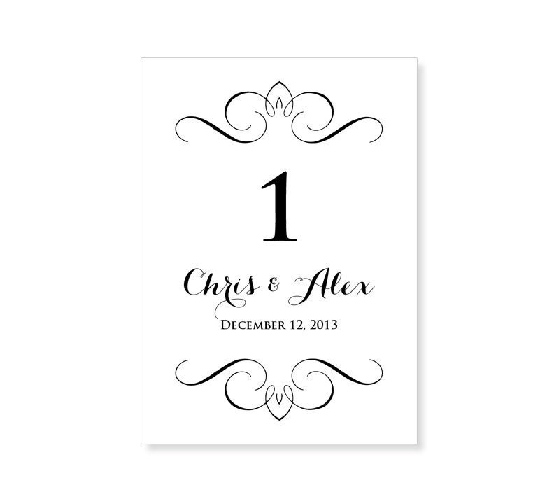 Instant download wedding table number template by 43lucy on etsy for Wedding table numbers template