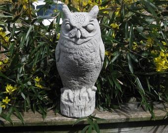Concrete Large Owl Statue