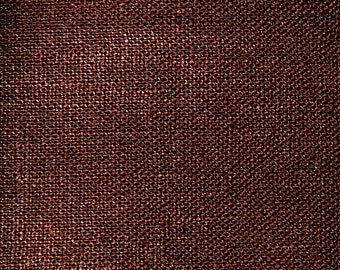 "26"" x 22"" - One Piece - Bronze Metallic Fabric - Linen Fabric with Glitz - Clothing- Drapery - Table top"