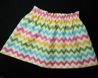 Tween, girl, toddler, baby green, pink, yellow, blue, white chevron fabric skirt sizes NB 3m 6m 12m 18m 24m 2T 3T 4T 5T 6 7 8 10 12 14 16