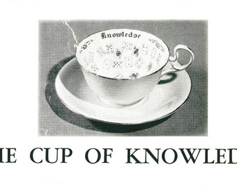 Cup of Knowledge - Tea Leaf Reading Instructions for Aynsley English Bone China Fortune Telling Cup