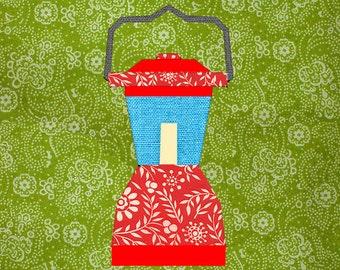 Camping Lantern Paper pieced quilt block pattern PDF
