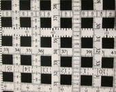 Measuring Tapes Sewing Items Black White Cotton Fabric Fat Quarter or Custom Listing
