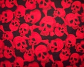 Wild Red Skulls Cotton Fabric Fat Quarter or Custom Listing OOP