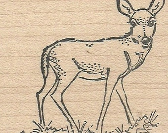 Doe - Wood Mounted Rubber Stamp