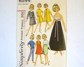 Vintage Sewing Pattern 1960s Tammy Doll Clothes Pattern 6244 Simplicity Misty Doll