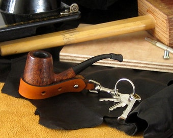 Leather Keychain / Pipe Rest / Hat Hook -- Adjustable