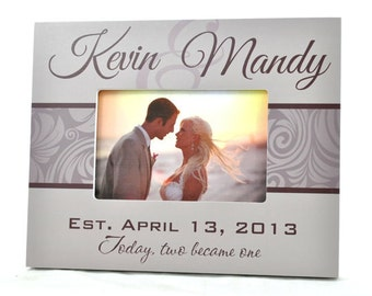 Personalized Picture Frame for 4x6 Photo Wedding or Anniversary Gift