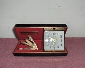 Elgin Travel Clock Green Case & Trim