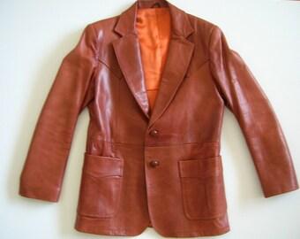 Vintage William Barry Brandon Colorado Mens Lined Leather Jacket Size 40