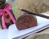 Rustic Wedding Decor, Twig Pen & Log Holder, Rustic Guest Book  Pen, 1 Pen And Holder