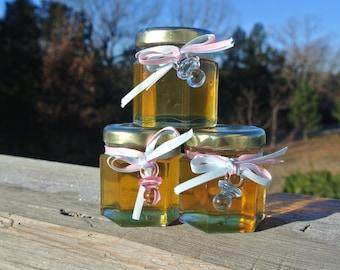 Baby Shower Favors, Antibiotic Free Honey, BPA free Packaging,  24 Hex Jars