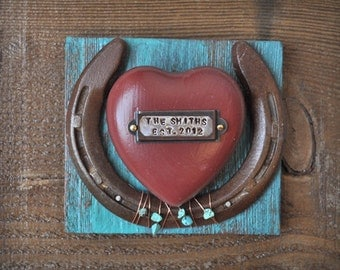 Personalized Wedding Gift Rustic Cowboy Western Horseshoe Wedding or Anniversary Gift Personalized for Western Decor