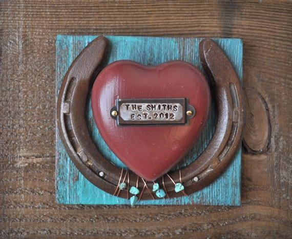 Cowboy Wedding Gifts: Personalized Wedding Gift Rustic Cowboy Western Horseshoe