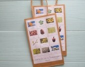 Party Pack- Montessori Nature Scavenger Hunt Bags in Natural Color (5)