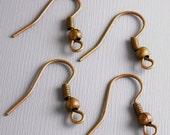 EARWIRE-COPPER-18MM - 50 pcs of 18mm Antique Copper Ear Wire