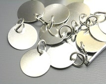 CHARM-SLVR-TAG-12MM - Silver Plated Disc 12mm - 10 pcs