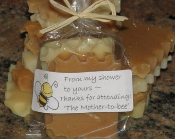 HONEY BEE Baby Shower FAVORS (Natural Honey Soap Sets) Bumble Bee theme - Order Exact Qauntity You Need! Rustic, Modern, Casual - Fits all