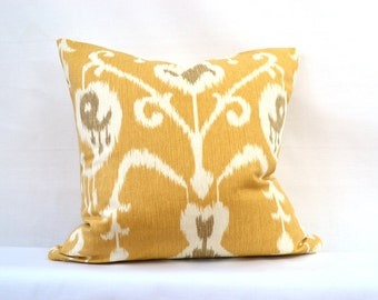 Decorative Throw Pillow, 18 by 18 inch, Java Ikat (Cover only)