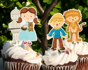 Wizard of Oz Party Cupcake Toppers Set of 12