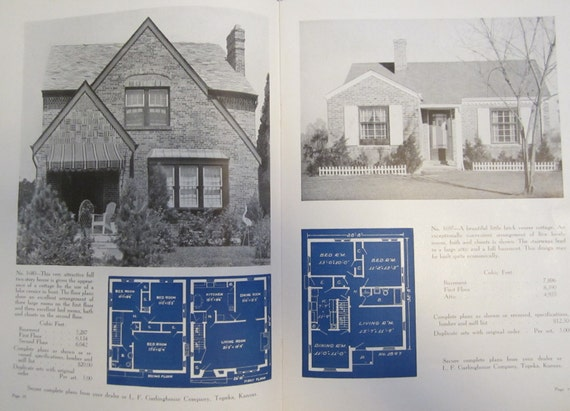 Items similar to     s      s Architecture Mid Century House Plans    Items similar to     s      s Architecture Mid Century House Plans Design Books Brick cottages  amp  Bungalow on Etsy