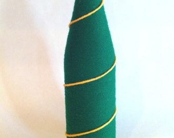 Green and Mustard Yellow/Gold (Oregon Ducks Colors)Bottle Vase