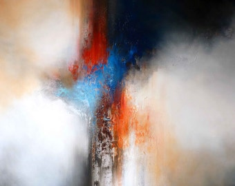 """Large Canvas Abstract Expressionist Painting by Simon Kenny """" The Pillars of Dawn"""""""