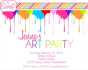 Painting/Art Party DIY Printable Invitation