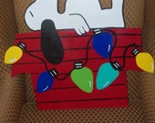 Snoopy Doghouse Christmas Door Hanger