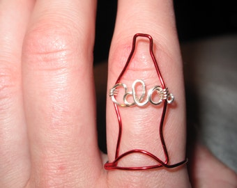 Wire Wrapped Cola MADE to ORDER Ring