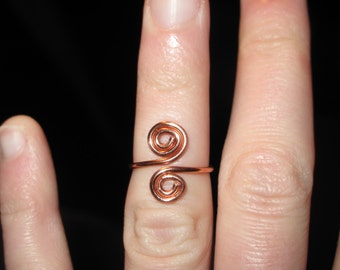 Wire Wrapped Spiral MADE to ORDER Knuckle or Regular Size Ring