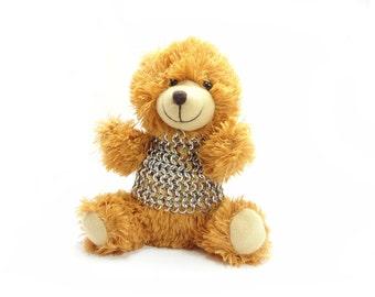 Teddy Bear Knight - Sir Lance-A-Bunch - Chainmaille Armor