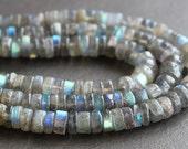 Labradorite Heishi Beads 5mm FULL STRAND (13 Inches)