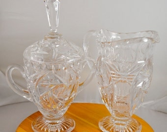 German Crystal Cream and Sugar Set