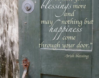 5x7 Irish Blessing Plaque - Inspirational, Photography, Doors, Gift