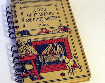 VINTAGE DOG STORIES Handmade Journal Vintage Upcycled Book Vintage Daily Diary