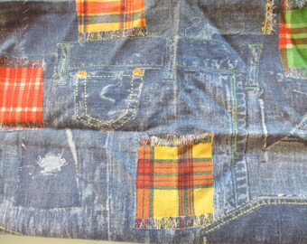 Vintage Demin Patchwork Fabric