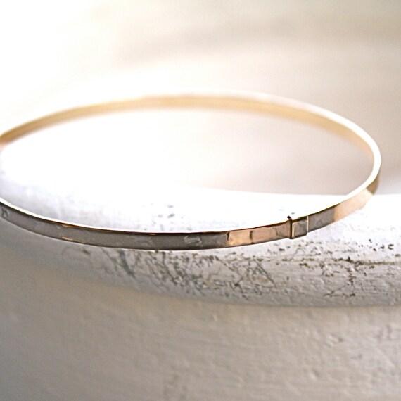 Bangle- Solid 14K Gold Bracelet