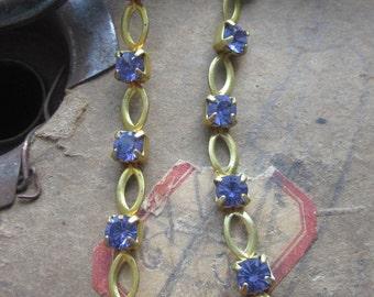 Antique Swarovski  Lavender  Skip Chain