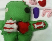 Removable Organs Zombie 100% handsewn