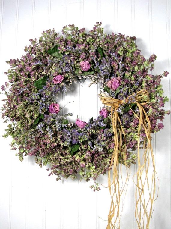 Dried herb wreath floral wreaths herbal