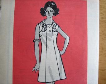 Marian Martin Pattern 9302 Misses' Dress  1970  Uncut