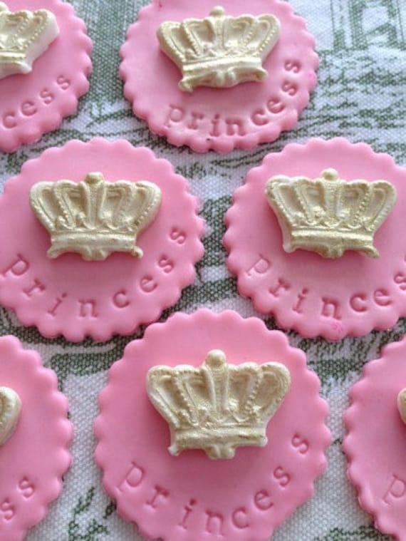 Items Similar To Little Princess Golden Crown 100 Edible