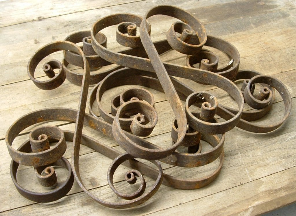 Rusty old metal decorative scrollwork by beneaththerust on for Decorative scrollwork