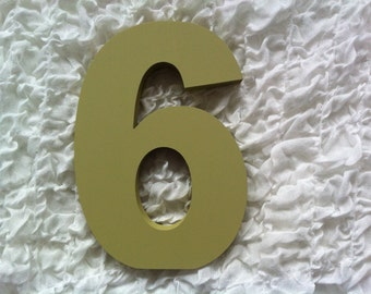 Decorative Freestanding Wedding Table Numbers - Ariel Font - 28cm high - Number 6
