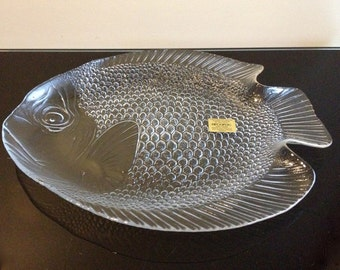 "Arcoroc France 15"" Fish Poisson Large Serving Platter Plate"